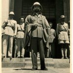 On His Majestic arrival in Addis Abeba on Liberation Day