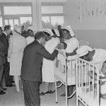 Inaugurates St. Mary's Hospital