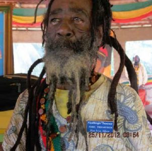 Ancient Bongo Ivin – elected High Priest of Nyah Binghi at Scotts Pass, Jamaica