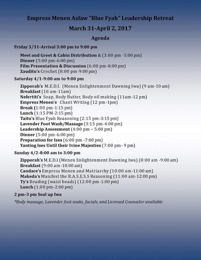 Blue Fyah Agenda