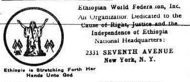 EWF Presents Its Charter & Early Rastafari Leaders | Sep. 3, 1937