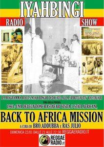 Iyahbingi radio show | Back to Africa mission