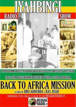 Iyahbinghi radio show | Back to Africa mission