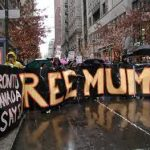 Police attack protesters at Mumia Rally