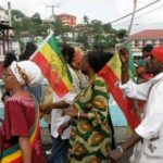 Emancipation day rally in Iyanola, St. Lucia