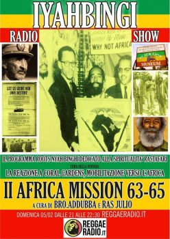Iyahbingi radio show | 2nd Africa Mission 1963/65