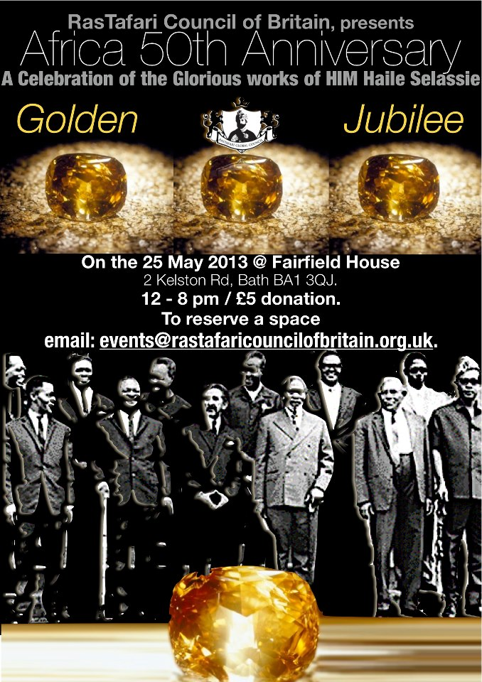African Union 50th Anniversary : A Celebration of the Glorious works of HIM Haile Selassie at Fairfield House, Bath