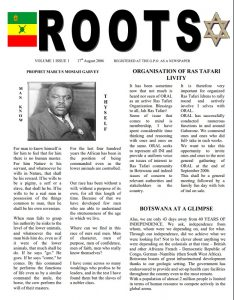 Roots Magazine | Volume 1 – Issue 1