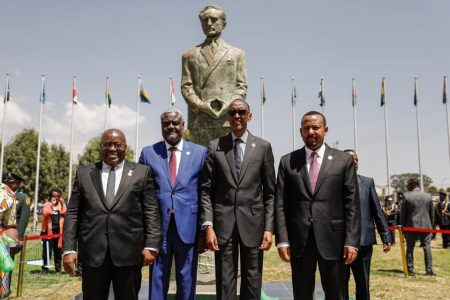 African Union Unveils Emperor Haile Selassie I Statue